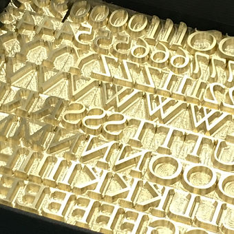 Hot-Foil-Brass-Letters