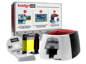 Badgy 200 ID Card Printer Package
