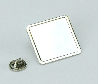 Square Lapel Badge (25x25mm)