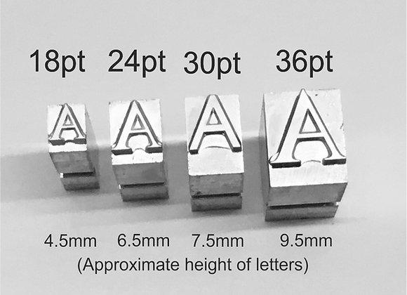 Hot Foil Metal Letters