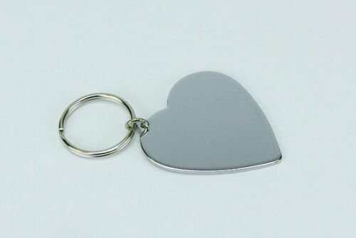 Heart Shape Metal Key Fob without indent