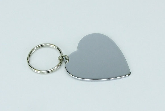Heart Shape Metal Key Fob