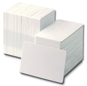 Plain White Plastic Cards