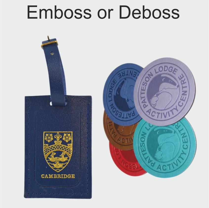 Emboss or Deboss