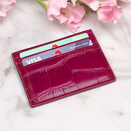 Credit Card Wallet - Croc
