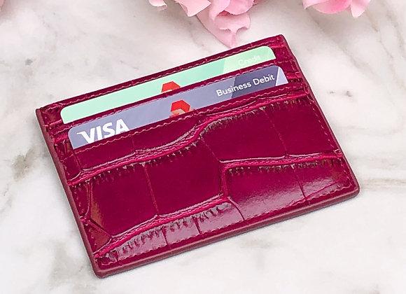 Credit Card Wallet - Croc