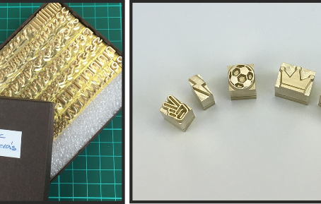 The benefits of printing with high quality brass letters!