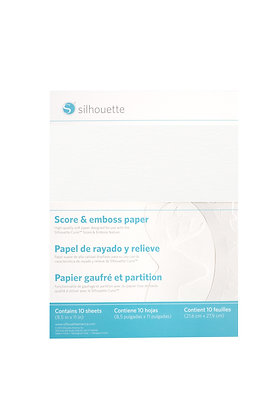 "Silhouette Curio Score & Emboss Paper - 8.5"" x 11"""