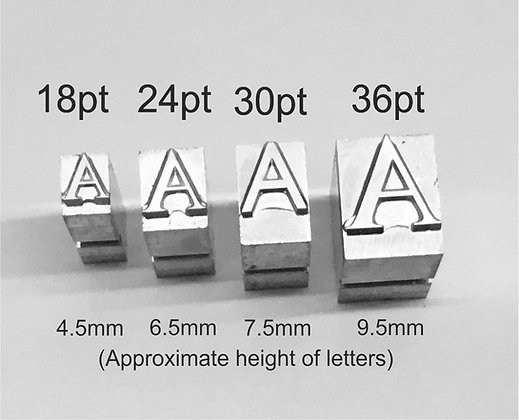 Metal Letters for Hot Foil Stamping