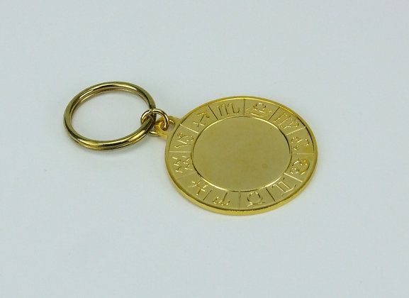Zodiac Metal Key Fob