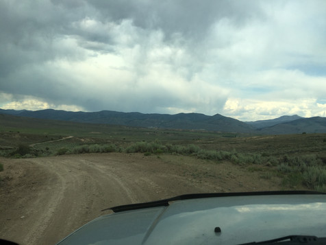 Big views encumbered by the overcast clouds