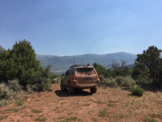 Great view from this ridge with a campsite just to the right of the 4Runner