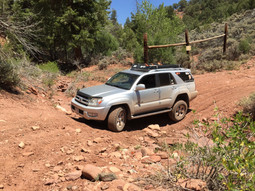 Dry creek crossing.  In heavy rain this may be impassible without large mud tires and lockers