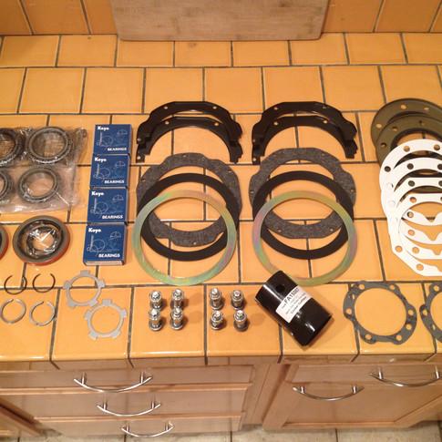 Knuckle Rebuild Kit Components