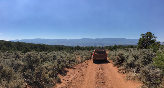 Great view & a TON of red dirt