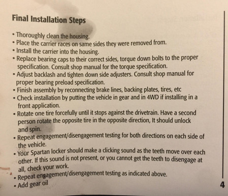 Spartan Instructions 5