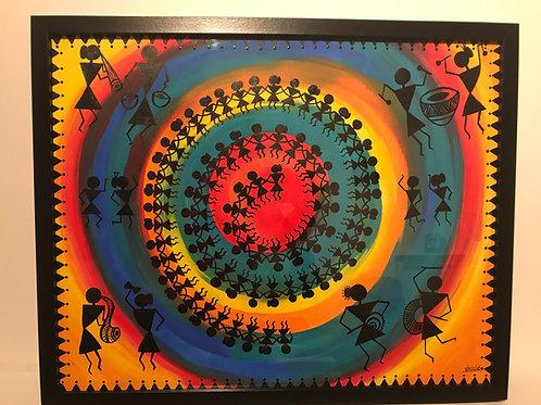"Warli Art inspired Wall Art 16""*20"""