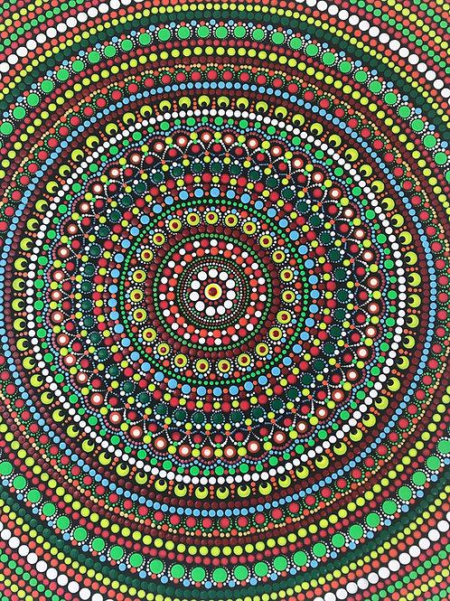 "Dot Mandala painting - 16""*20"""