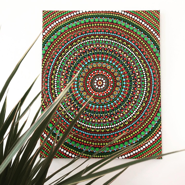 Dot Mandala Acrylic painting