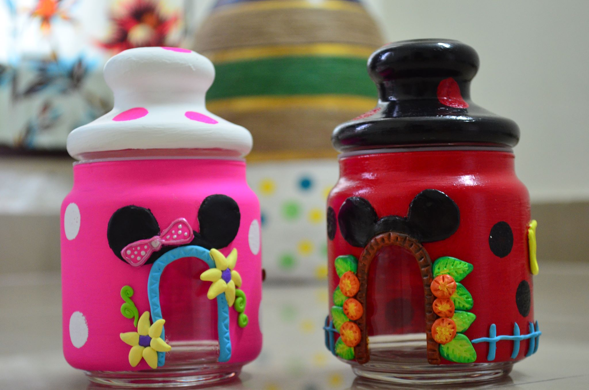 Disney Glass Jars