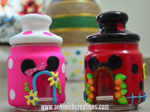 Disney inspired Glass jar