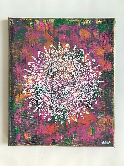 Abstract Mandala Painting - 25*30cms