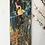 "Thumbnail: Gold Peacock Abstract painting 8""*20"""