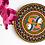 Thumbnail: Madhubani Dot Mandala Painting on Cork - 19cms