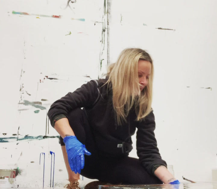 Lisa Working With Resin