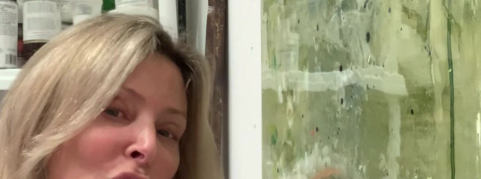 Lisa Finishing A Painting
