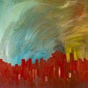 PUEBLE CITY SUNRISE - 30 X 30 - $3000