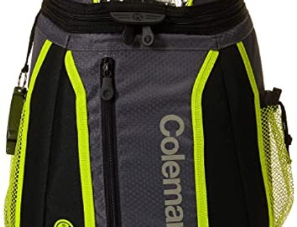 HIELERA SOFT BP 18CAN ULTRA BLK/LIME COLEMAN