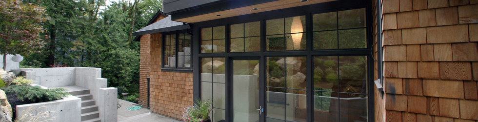 GLASS WALL HOME ENTRY