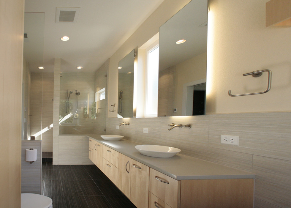 FLOATING BATHROOM CABINETS AND MIRRORS