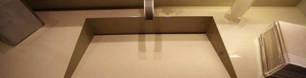 INTEGRATED SLOT DRAIN BATHROOM SINK