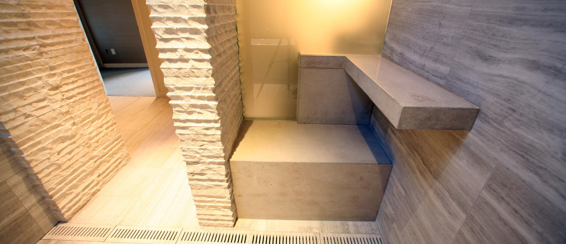 WALK-IN MASTER BATH SHOWER ROOM