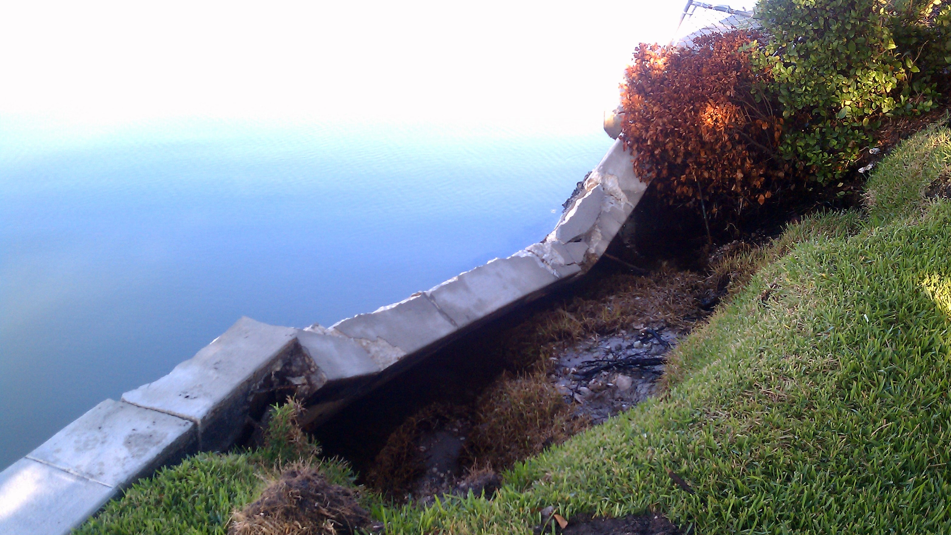 Failed Seawall