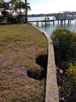 Seawall Erosion