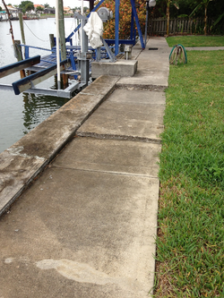 Seawall/sidewalk Settling