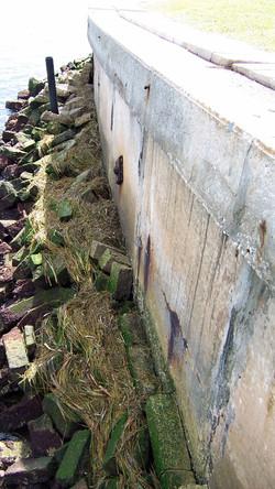 Seawall Rust Protrusion