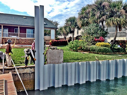 vinyl seawall, seawalls, seawall, sea wall, seawall repair, seawall builder, seawall construction, pinellas seawall, seawall contractor