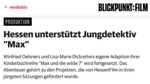 """HessenFilm unterstützt """"Die Geisteroma"""""""