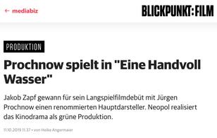 """""""Eine Handvoll Wasser"""" in Blickpunkt:Film"""