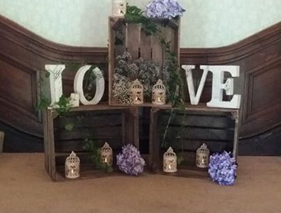 Rustic Display @ Buckland Hall