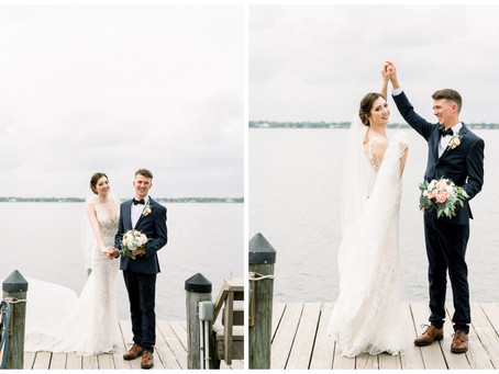 Britnee & Nathan's Elegant Coastal Wedding | Merritt Island, Florida