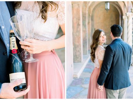 Caroline & Nick's Engagement Session | The Howey Mansion | Howey-in-the-Hills, Florida