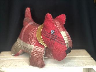 Jan 20_doggy doorstop_red brown check.jp