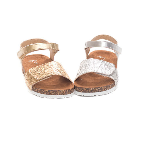 Metallic Cork Sandal