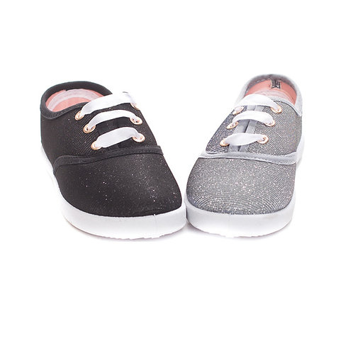 Girls Glitter Sneakers