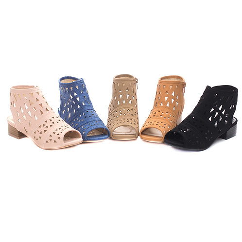 Girls Laser Cut Booties